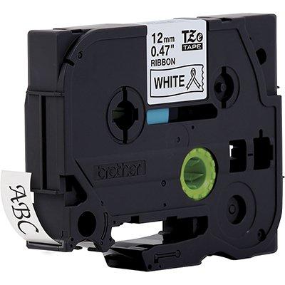 Fita para rotulador Brother TZe-R231 branca escrita preta cetim Brother CX 1 UN