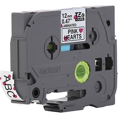 Fita para rotulador Brother TZe-MPPH31 coração escrita preta plástica laminada Brother CX 1 UN