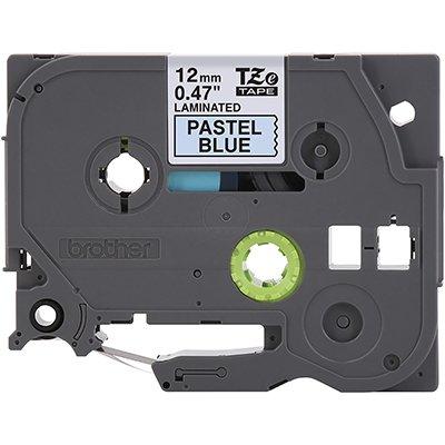 Fita para rotulador Brother TZe-MQ531 azul pastel escrita preta plástica laminada Brother CX 1 UN