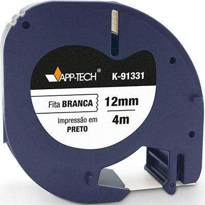 Fita para rotulador Dymo K-91331 branca escrita preta plástica App-tech BT 1 UN