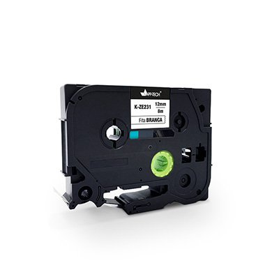 Fita para rotulador Brother K-ZE231 branca escrita preta plástica laminada App-tech BT 1 UN