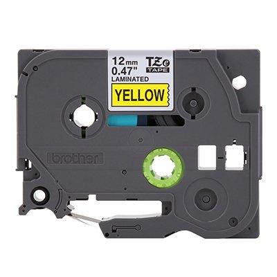 Fita para rotulador Brother TZe-631 amarela escrita preta plástica laminada Brother BT 1 UN
