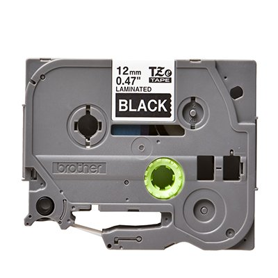 Fita para rotulador Brother TZe-335 preta escrita branca plástica laminada Brother BT 1 UN