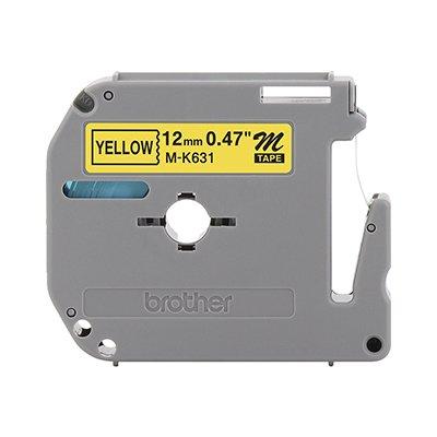 Fita para rotulador Brother M-K631 amarela escrita preta plástica Brother BT 1 UN