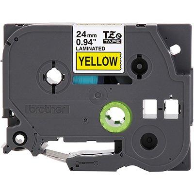 Fita para rotulador Brother TZe-651 amarela escrita preta plástica laminada Brother BT 1 UN