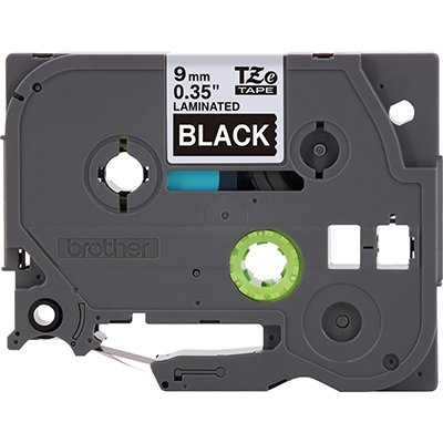 Fita para rotulador Brother TZe-325 preta escrita branca plástica laminada Brother CX 1 UN