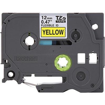 Fita para rotulador Brother TZe-FX631 amarela escrita preta plástica laminada Brother BT 1 UN