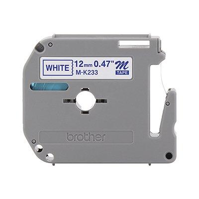 Fita para rotulador Brother M-K233 branca escrita azul plástica Brother BT 1 UN