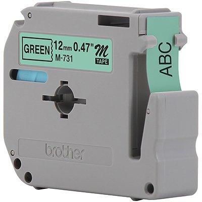 Fita para rotulador Brother M-731 verde escrita preta plástica Brother BT 1 UN