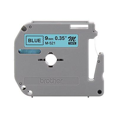 Fita para rotulador Brother M-521 azul escrita preta plástica Brother BT 1 UN