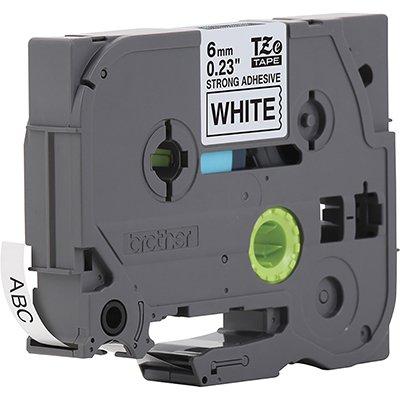 Fita para rotulador Brother TZe-S211 branca escrita preta plástica laminada Brother BT 1 UN