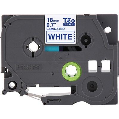 Fita para rotulador Brother TZe-243 branca escrita azul plástica laminada Brother BT 1 UN