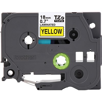 Fita para rotulador Brother TZe-641 amarela escrita preta plástica laminada Brother BT 1 UN