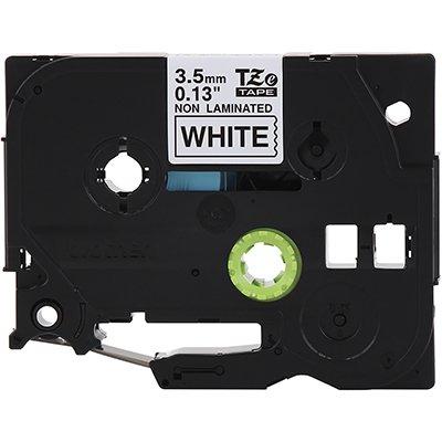 Fita para rotulador Brother TZe-N201 branca escrita preta plástica Brother BT 1 UN
