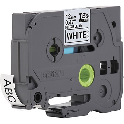 Fita para rotulador Brother TZe-FX231 branca escrita preta plástica laminada flexível Brother BT 1 UN