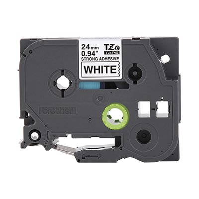 Fita para rotulador Brother TZe-S251 branca escrita preta plástica laminada Brother BT 1 UN