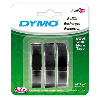 Fita para rotulador Dymo manual 1741670 preta  plástica Dymo BT 3 UN