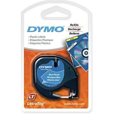 Fita para rotulador Dymo 91335 azul escrita preta plástica Dymo BT 1 UN