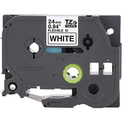 Fita para rotulador Brother TZe-FX251 branca escrita preta plástica laminada flexível Brother BT 1 UN
