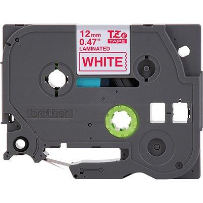 Fita para rotulador Brother TZe-232 branca escrita vermelha plástica laminada Brother BT 1 UN
