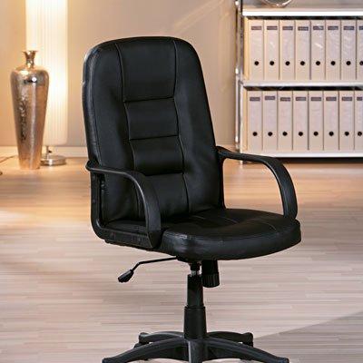 Cadeira giratória Tibald preta 99902000 Links CX 1 UN