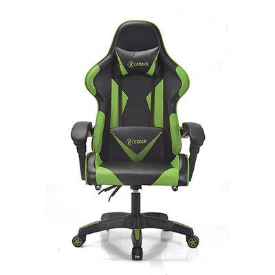 Cadeira Gamer X-Zone Premium preto e verde CGR-01 X-zone CX 1 UN