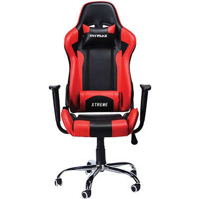 Cadeira Gamer MX7 preta e vermelha MGCH-002/R Mymax CX 1 UN