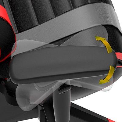 Cadeira Gamer Black Hawk c/ apoio cervical CH05BKKRD Elg CX 1 UN