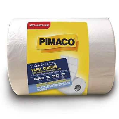 Etiqueta couchê para impressora de barras 50x30mm Rr Etiqueta PT 1 UN
