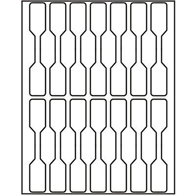 Etiqueta adesiva branca multiuso 9,0x53mm Q-509 Pimaco PT 70 UN