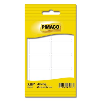 Etiqueta adesiva branca multiuso 23x37mm Q-2337 Pimaco PT 40 UN