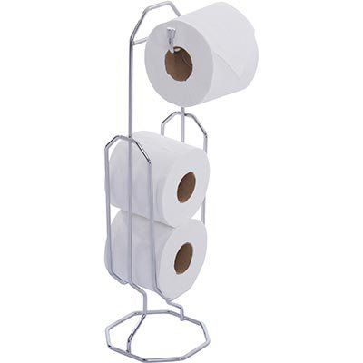 Suporte de papel higiênico cromado 180 Duler PT 1 UN