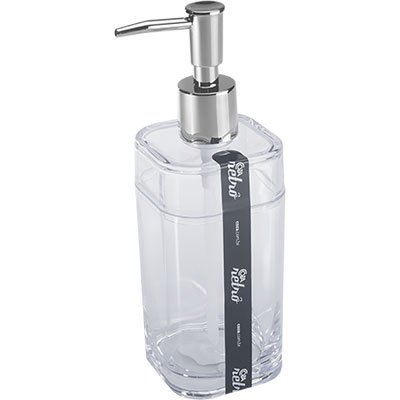 Saboneteira c/reservatório 290ml cristal 20451 Coza PT 1 UN