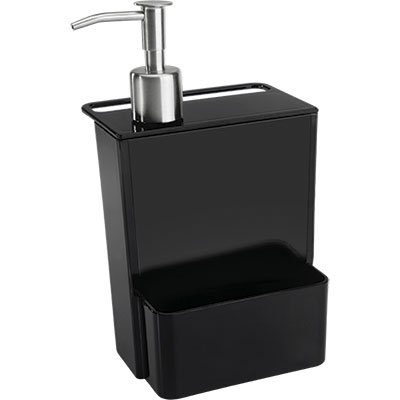 Dispenser para detergente 600ml preto Coza PT 1 UN