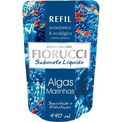 Sabonete líquido refil algas marinhas 440ml 8109 Fiorucci PT 1 UN
