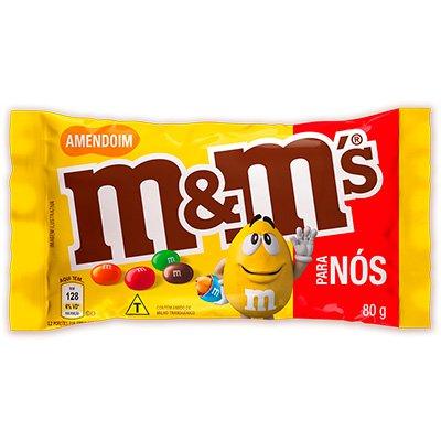 M&Ms amendoim 80g Mars Brasil PT 1 UN