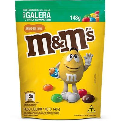 M&Ms amendoim 148g Mars Brasil PT 1 UN
