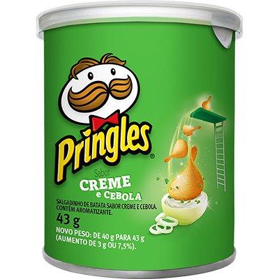 Batata Pringles lata 43g creme e cebola Pringles PT 1 UN