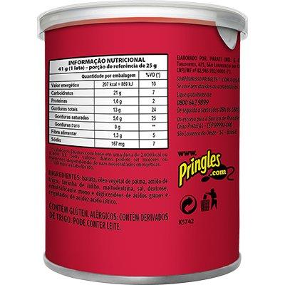 Batata Pringles lata 41g original Pringles PT 1 UN
