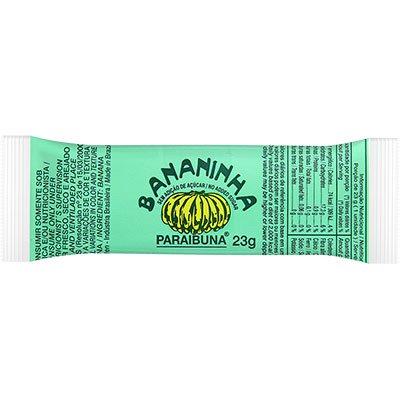 Doce de banana bananinha sem açucar 23g 012 Paraibuna PT 1 UN