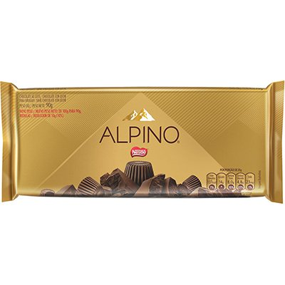 Chocolate ao leite Alpino 90g Nestle Brasil PT 1 UN
