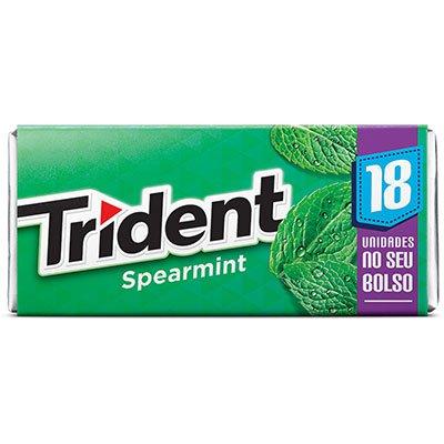 Goma de mascar Trident Spearmint 30,6g Trident PT 1 UN