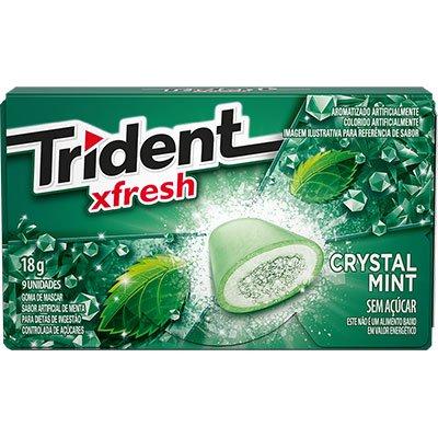 Goma de mascar Crystal mint 9S 18g 22983 Trident PT 1 UN