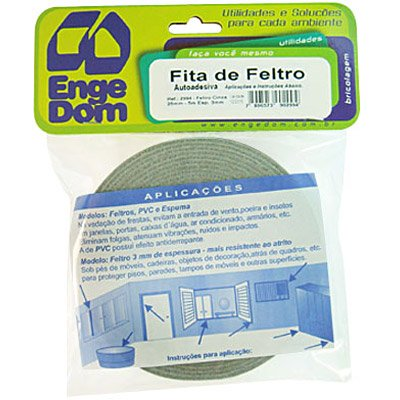 Feltro adesivo cinza 2,5x03x05m 2994 Engedom PT 1 RL