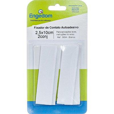 Fixador de contato AA 2,5x10cm branco-2CJ 3694 Engedom PT 1 UN