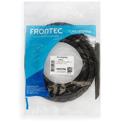 Organizador p/cabos e fios 12,7mmx2m preto F7112PEPR2 Frontec PT 1 UN