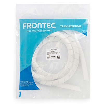 Organizador p/cabos e fios 19mmx2m branco F7134PEBR2 Frontec PT 1 UN