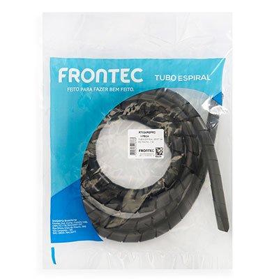 Organizador p/cabos e fios 19mmx2m preto F7134PEPR2 Frontec PT 1 UN