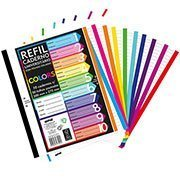 Caderno Universitário com 50 folhas coladas refil color 4 furos Spiral PT 10 UN
