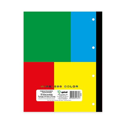 Caderno universitário c/ 96fls coladas Wireless color 57617 Spiral PT 1 UN